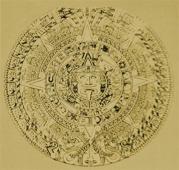 The Aztec Calendar is known as the Aztec Chakra to Hindu Astronomers. (National Museum of Anthropology, Mexico.)
