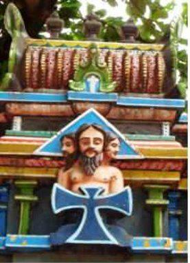 Jesus shown as Lord Brahma