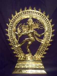 This image of Nataraja the God of Dance is made of five metals (Pancha-Dhatu) This technology of mixing two or more metals and deriving superior alloys has been observed and noted by the Greek Historian Philostratus.