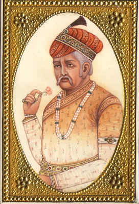 Emperor-Akbar-Empress-Jodha-RARE-Mughal-Miniature-Art-Royal-Historical-Painting-190697969821-3