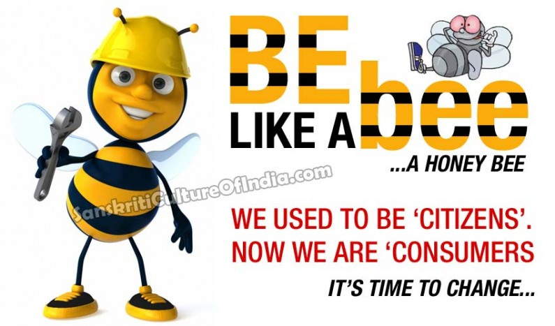 Be like a bee… a honey bee…