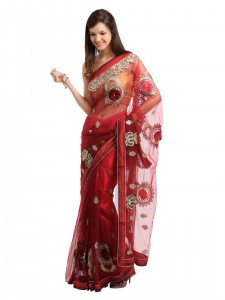 Indian-Women-Red-Sari