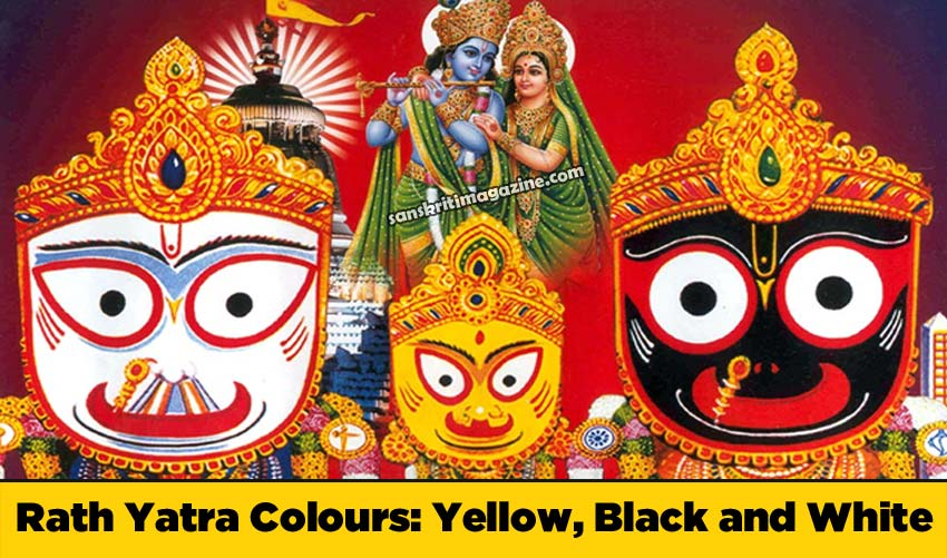 Rath Yatra Colours - Yellow, Black and White