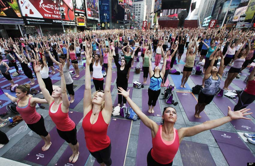 Yoga in New York on Summer Solstice