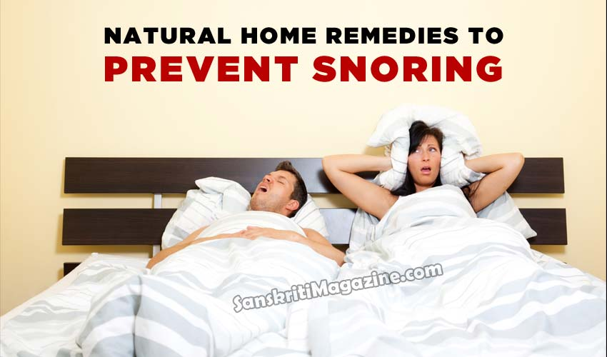 Natural Home Remedies to prevent Snoring