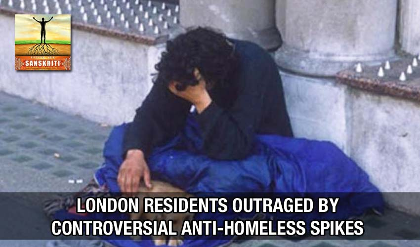 London residents outraged by controversial anti-homeless spikes