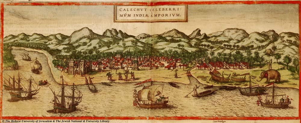 Map of Calicut, 1572