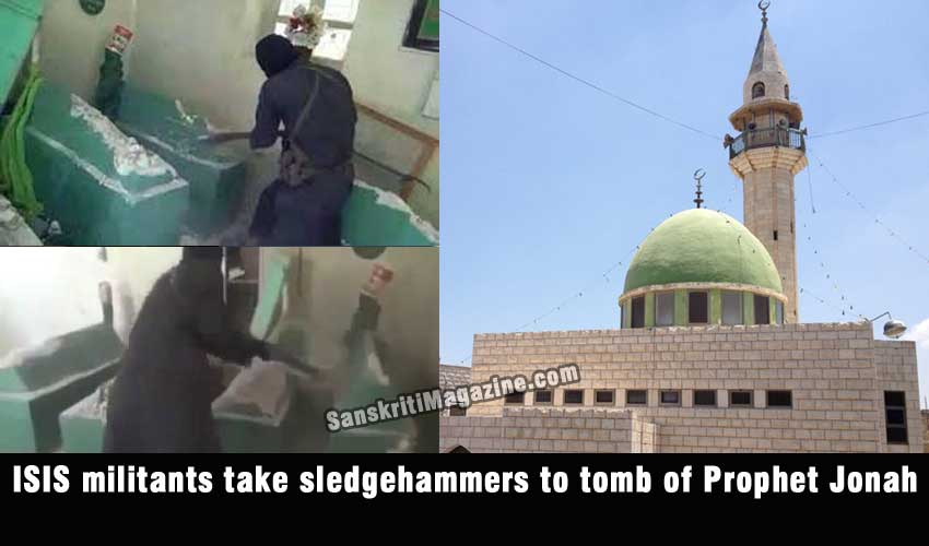 ISIS militants take sledgehammers to tomb of Prophet Jonah