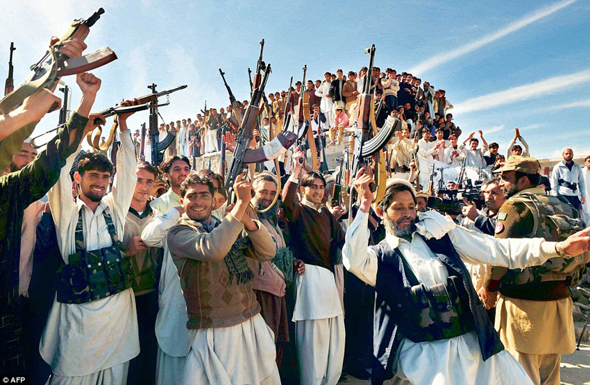 Tribal militias from Pakistan (in photo) are prime candidates for the Ghazwa-e-Hind