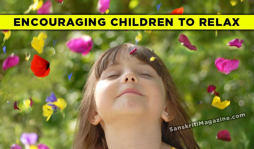 Encouraging children to relax