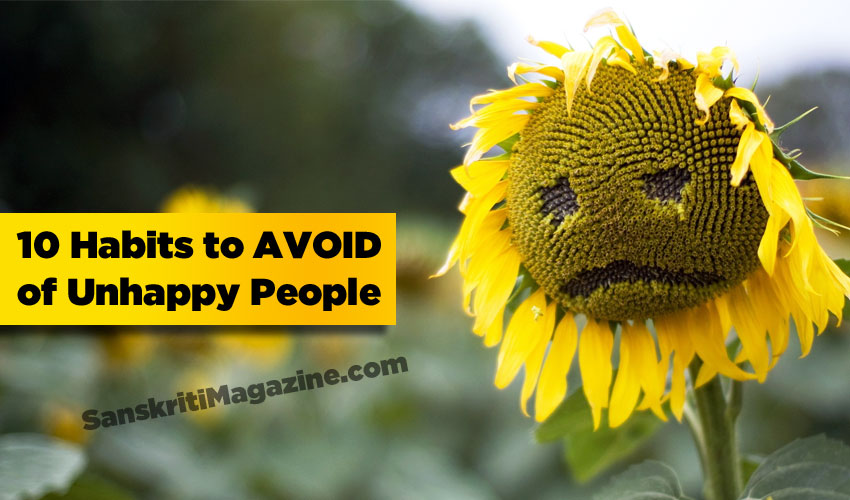 10 habits to avoid of unhappy people