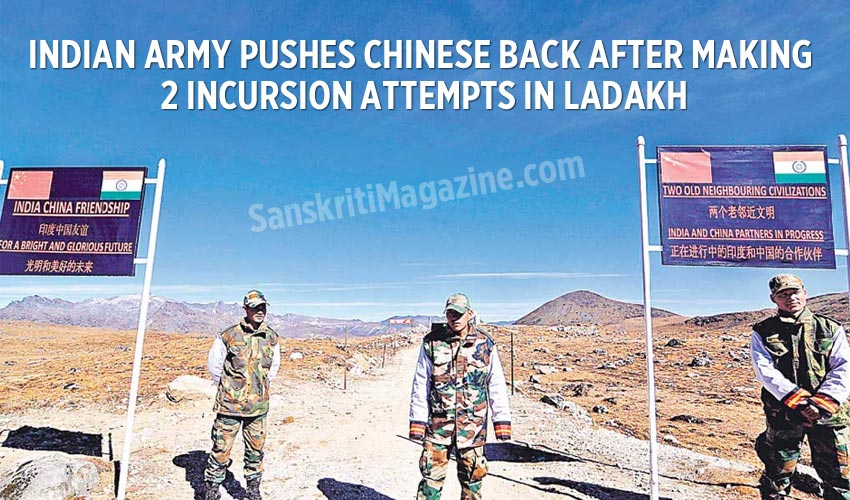 Indian army pushes Chinese back after making 2 incursion attempts in Ladakh