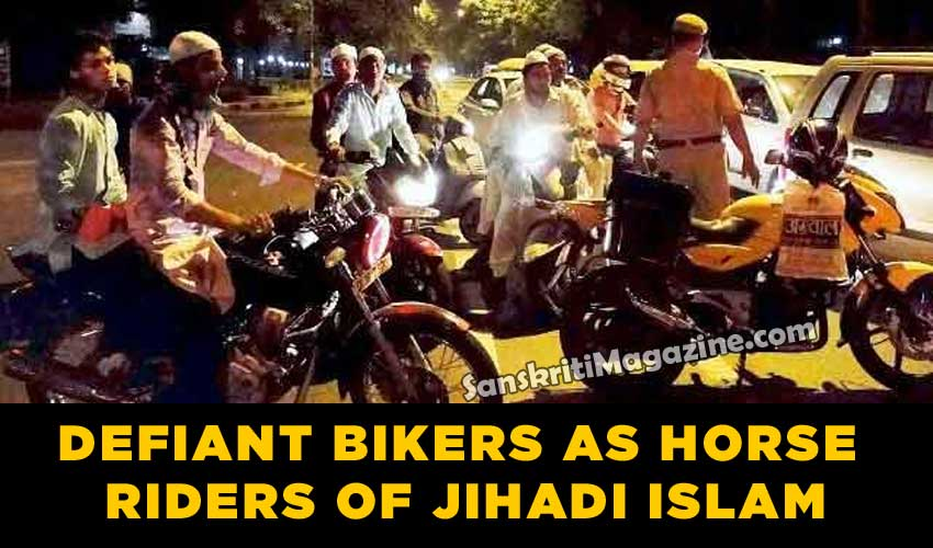 Defiant bikers as horse riders of jihadi Islam