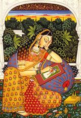 A scene from Kalidasa's famous play 'Abhijnana Shakuntalam'