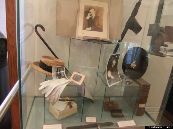 Tesla belongings on display at the Tesla Museum in Belgrade, Serbia.