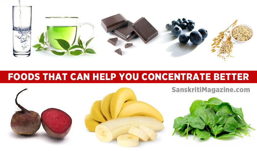 Foods that boost concentration