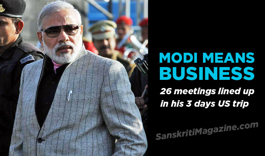Modi means business: 26 meetings lined up in his 3 days US trip