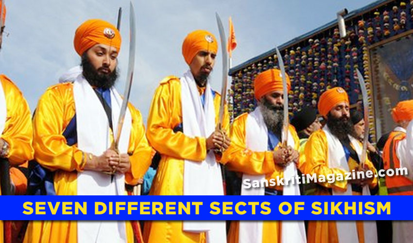 Seven different sects of Sikhism