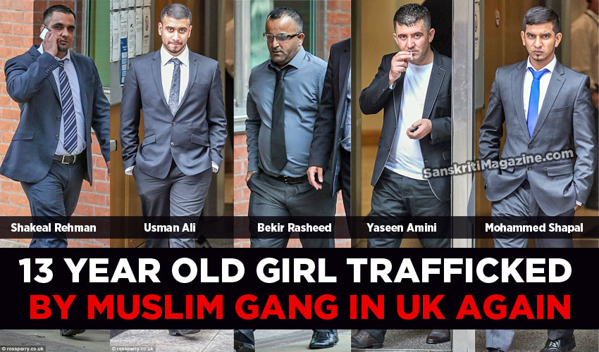 13 year old runaway trafficked by Muslim gang in UK
