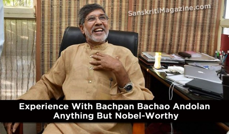 Experience with Bachpan Bachao Andolan anything but Nobel-worthy