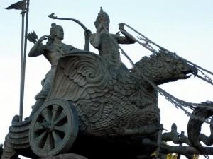 Arjuna Krishna statue in Jakarta