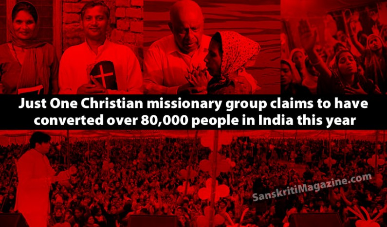 Christian group claims to have converted over 80,000 people in India this year