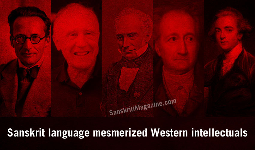 Sanskrit language mesmerized Western intellectuals