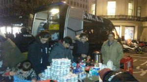 S.W.A.T. Volunteers distributing food