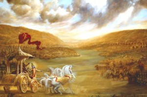 Krishna-Arjuna-battle