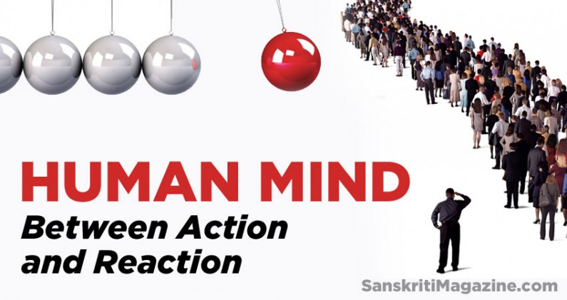 Human Mind: Between Action and Reaction