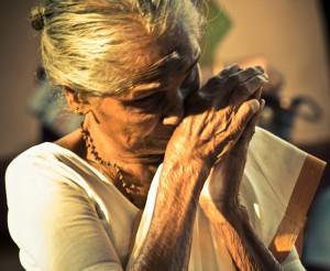 elderly praying