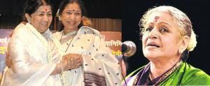 Asha Bhosale, Lata Mangeshkar, MS Subhalakshmi