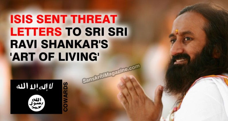 ISIS threat letters sent to Sri Sri Ravi Shankar's 'Art of Living'