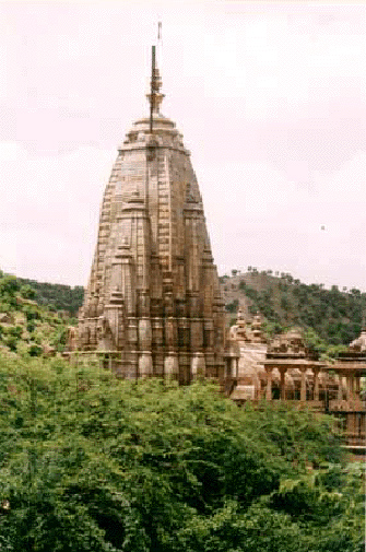 A north Indian temple showing recursion in its outer structural form
