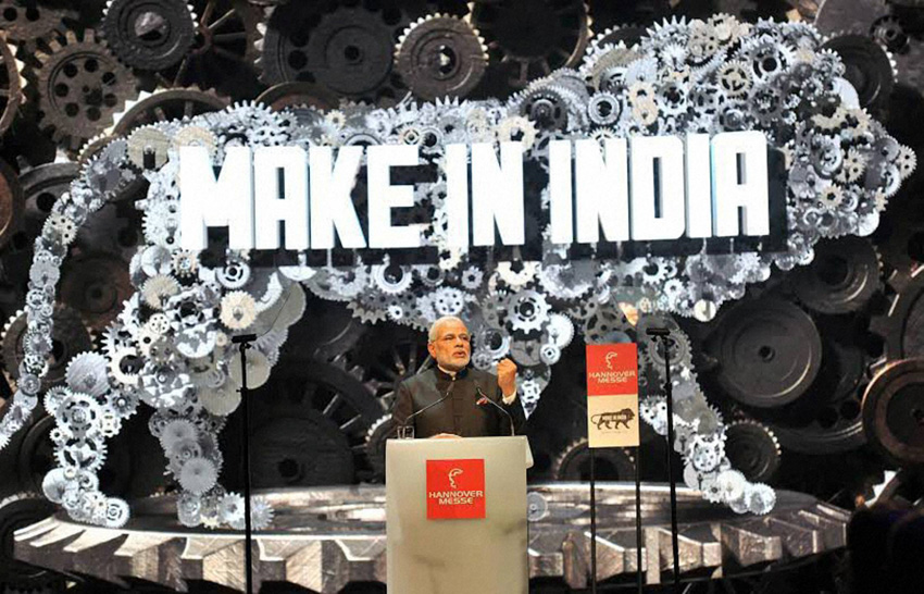 Hanover: Prime Minister Narendra Modi speaks at the opening of the industrial fair in Hanover, Germany on Sunday. PTI Photo