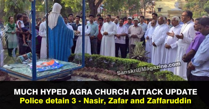 Agra church attack: Cops detain 3