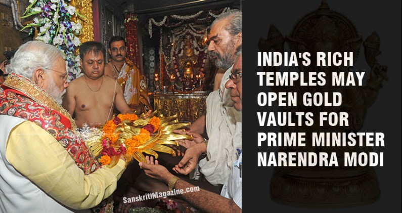 India's rich temples may open gold vaults for PM Narendra Modi