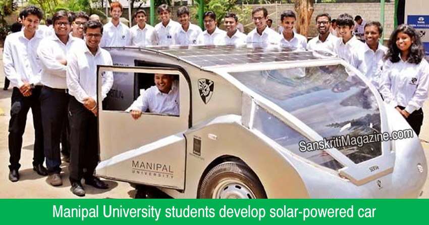 Manipal University students develop solar-powered car