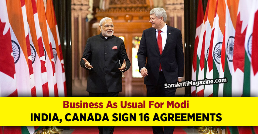 Business As Usual For Modi As India, Canada Sign 16 Agreements