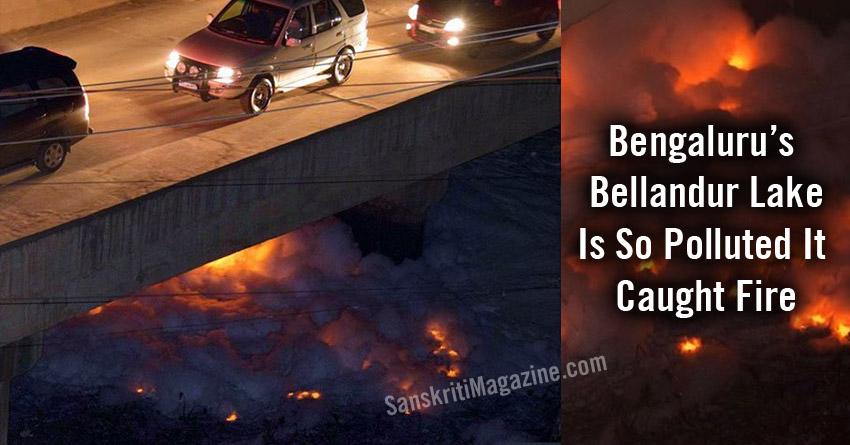 Bengaluru's Bellandur Lake Is So Polluted It Caught Fire