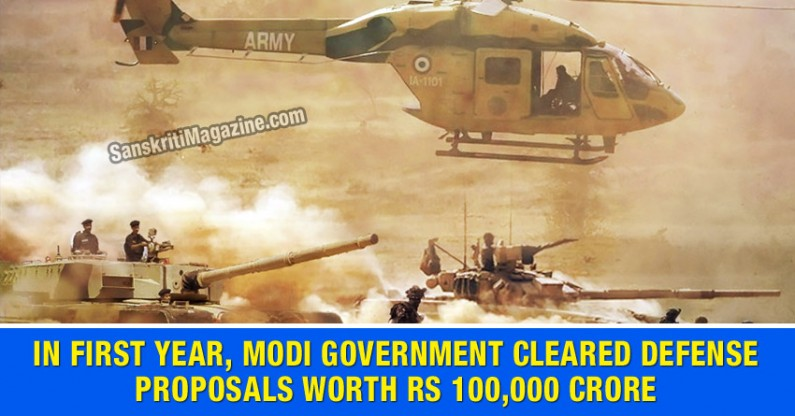 In first year, Modi government cleared defence proposals worth Rs 100,000 crore