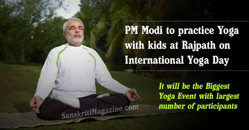 PM Modi to practice yoga with kids at Rajpath on International Yoga Day
