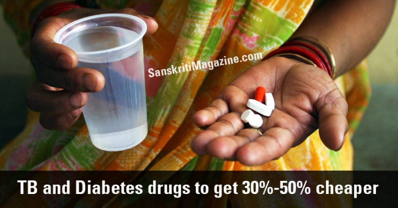 TB and Diabetes drugs prices to get 30%-50% cheaper in India