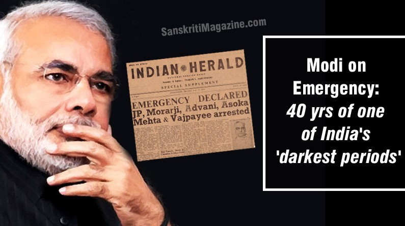 Modi on Emergency: 40 yrs of one of India's 'darkest periods'