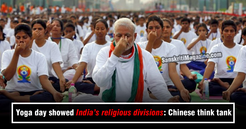 Yoga day showed India's religious divisions: Chinese think tank