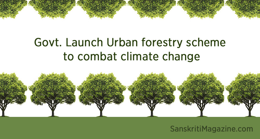 Urban forestry scheme to combat climate change