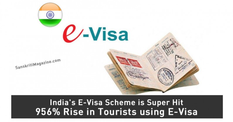 India's E-Visa Scheme is Super Hit – 956% Rise in Tourists using E-Visa