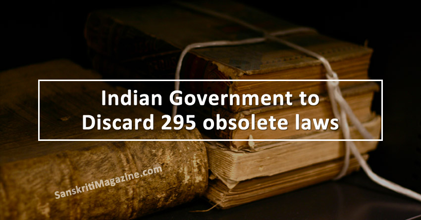 Indian Government to discard 295 obsolete laws