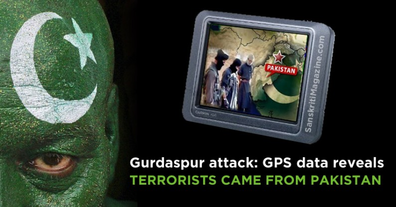Gurdaspur attack: GPS data reveals terrorists came from Pakistan