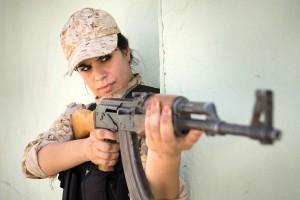 Hot shot ... Sgt Sazan Taib takes aim